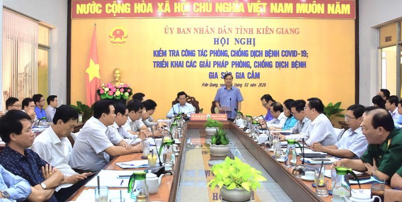 Chủ tịch UBND tỉnh Kiên Giang: Không được chủ quan trong công tác phòng, chống dịch bệnh virus Corona