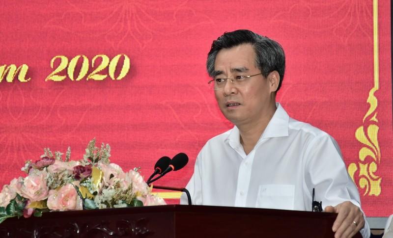 Ông Nguyễn Quang Dương - Ủy viên BCH TW Đảng, Bí thư Tỉnh ủy Bạc Liêu, phát biểu chỉ đạo Hội nghị.