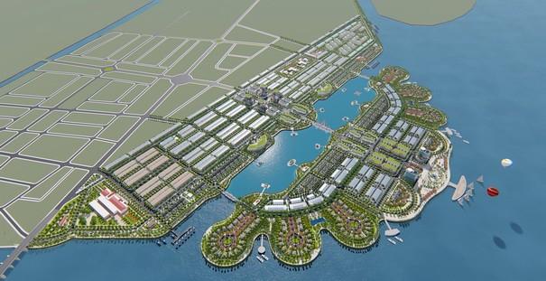 Khởi công dự án lấn biển khu đô thị Phú Cường Hoàng Gia