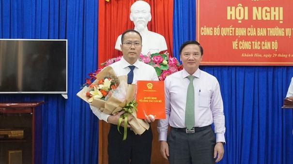 Giám đốc Sở Văn hóa và Thể thao Khánh Hoà giữ chức vụ Trưởng Ban Tổ chức Tỉnh ủy
