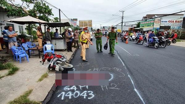 Hiện trường vụ tai nạn chết người.
