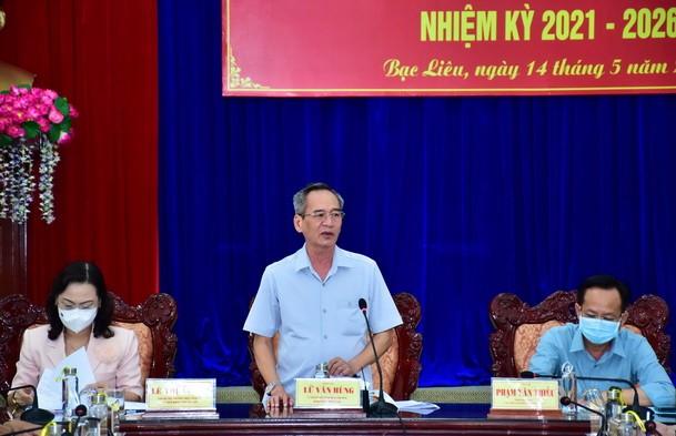 Hội nghị sơ kết lần 2, công tác bầu cử đại biểu Quốc hội và đại biểu HĐND các cấp của tỉnh Bạc Liêu