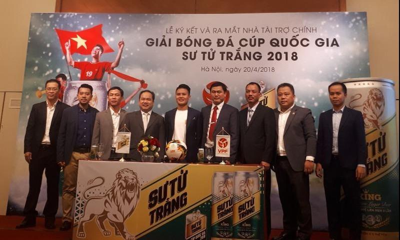Bia Sư Tử Trắng là nhà tài trợ chính cho Cúp Quốc Gia 2018