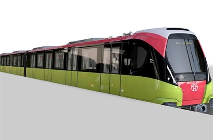 Mẫu tàu điện tuyến đường sắt Nhổn- ga Hà Nội