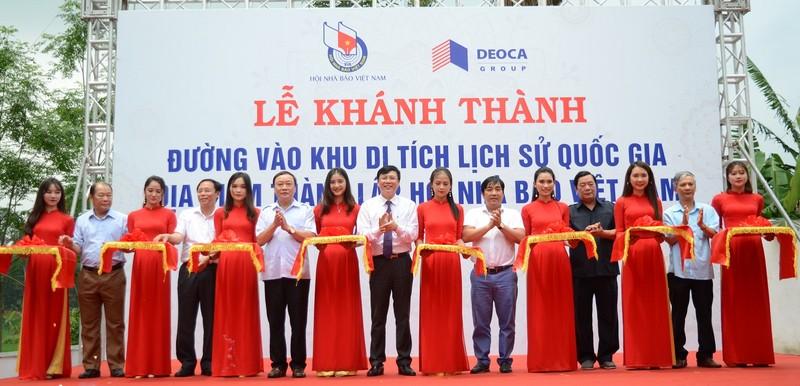 Tập đoàn Đèo Cả tài trợ tuyến đường dẫn vào di tích thành lập Hội Nhà báo Việt Nam