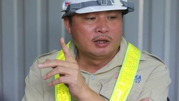 Anh Võ Sơn Hải, Phó giám đốc Ban điều hành phụ trách thi công LX1.