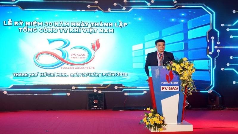 Tổng Giám đốc PV GAS phát biểu kêu gọi tinh thần đoàn kết và nỗ lực vươn lên của toàn thể PV GAS