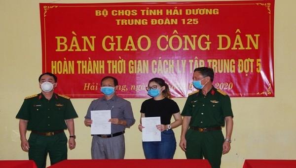 Thêm 148 công dân hoàn thành thời gian cách ly phòng, chống dịch Covid-19