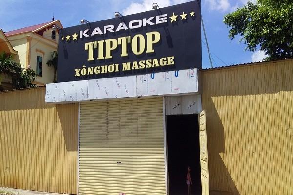 Cơ sở kinh doanh Karaoke tại khu đất của Công ty Cổ phần Cá giống Kinh Môn.