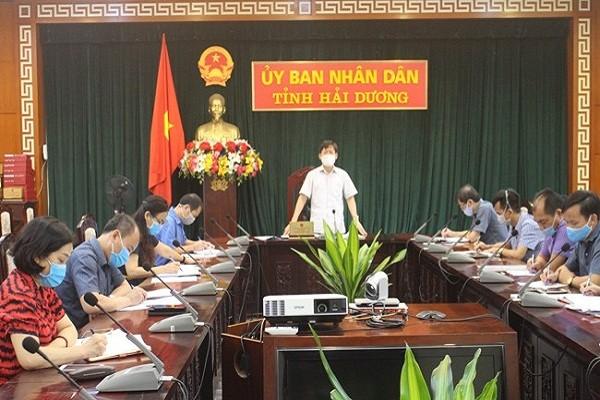 Ban Chỉ đạo Phòng chống dịch bệnh COVID-19 của tỉnh Hải Dương họp ngày 12/8