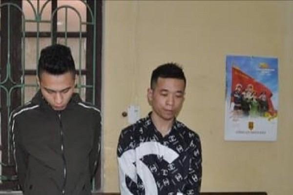 Bị can Nguyễn Văn Đông và Nguyễn Văn Hùng.
