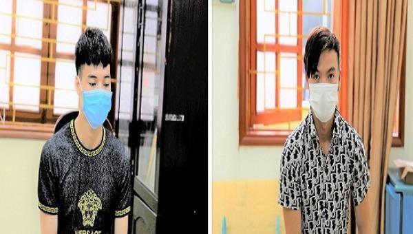 Sầm Văn Cường và Trương Văn Tiên tại cơ quan điều tra