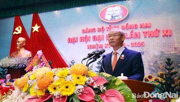 Đồng chí Nguyễn Phú Cường tái đắc cử Bí thư Tỉnh ủy Đồng Nai khóa XI. Ảnh: baodongnai