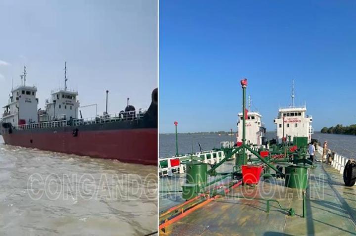 Công an truy bắt hai tàu bỏ trốn trong Chuyên án buôn lậu xăng giả phía Nam