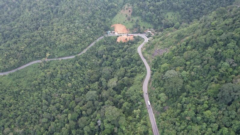 Ngắm nhìn vẻ đẹp của đèo Bảo Lộc từ trên cao