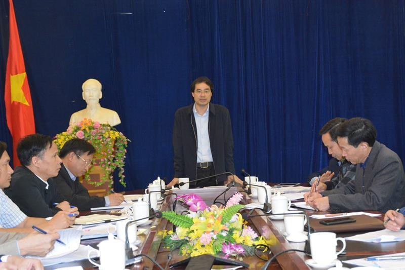 Đồng chí Trịnh Xuân Trường - Phó Chủ tịch UBND tỉnh Lào Cai - àm việc với UBND huyện Si Ma Cai