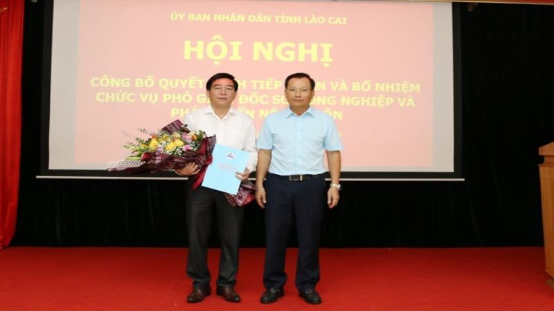 Công bố Quyết định bổ nhiệm Phó Giám đốc Sở Nông nghiệp và Phát triển nông thôn Lào Cai