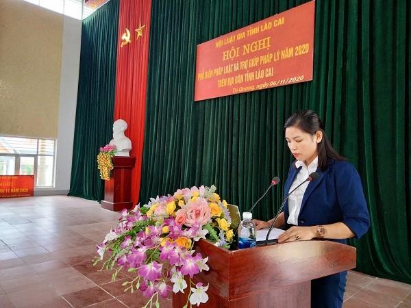 Lào Cai: Phổ biến pháp luật và trợ giúp pháp lý cho người dân xã Trì Quang, Bảo Thắng