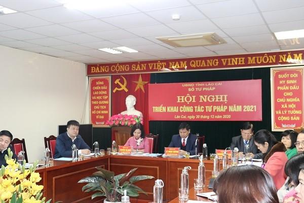 Lào Cai:  Sở Tư pháp triển khai công tác Tư pháp năm 2021