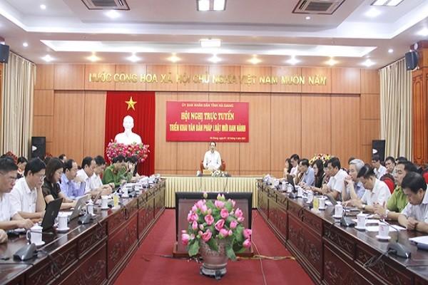 Hà Giang triển khai văn bản pháp luật mới ban hành