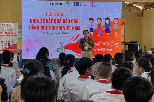 """Chia sẻ kết quả báo cáo khảo sát """"Tiếng nói trẻ em Việt Nam"""" tại Lào Cai"""