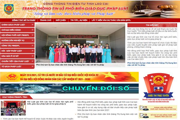 Lào Cai ra mắt trang thông tin điện tử phổ biến, giáo dục pháp luật