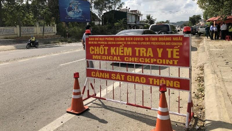 Quảng Ngãi kích hoạt các chốt kiểm tra y tế tại các cửa ngõ ra vào tỉnh