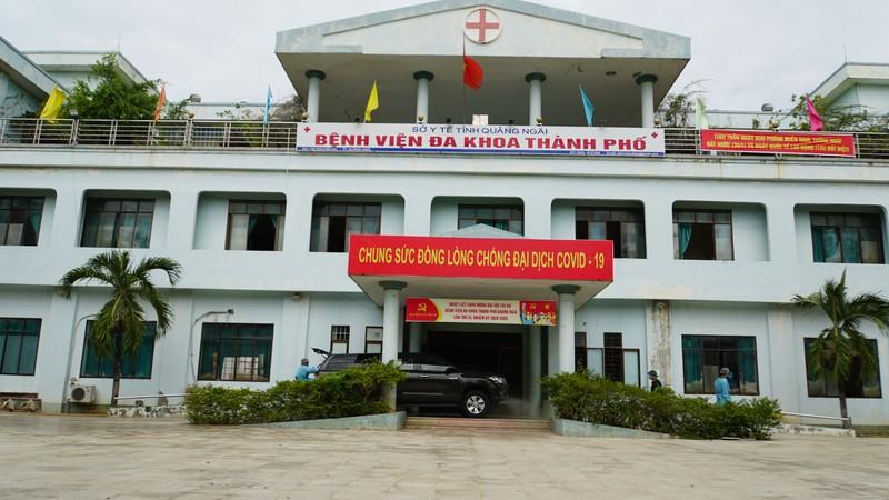 Bỏ cách ly Bệnh viện đa khoa thành phố Quảng Ngãi từ ngày 3/8