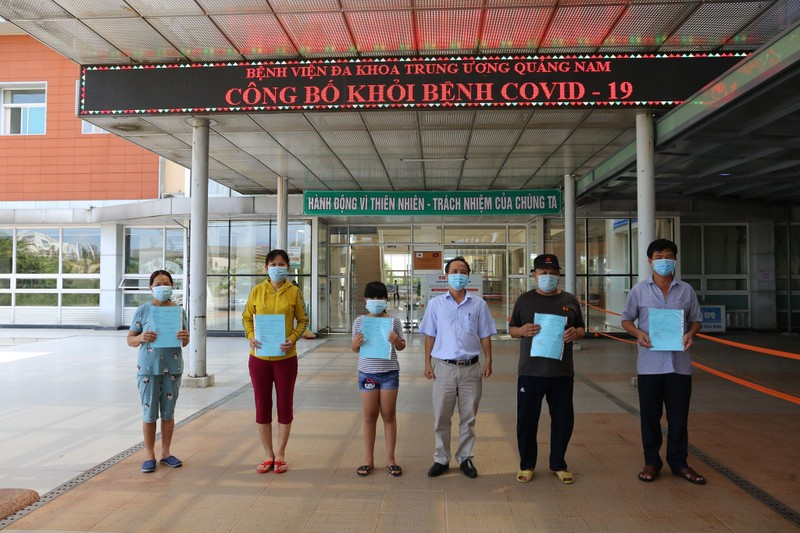 Thêm 7 bệnh nhân Covid-19 ở Quảng Nam được xuất viện