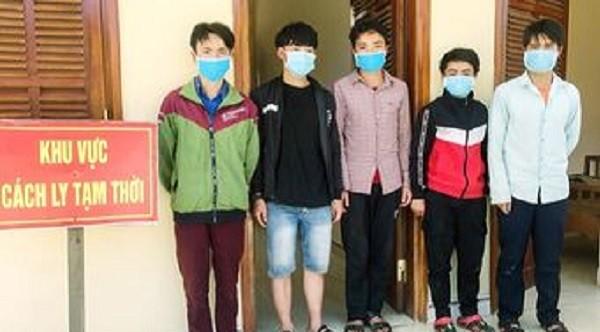 Phát hiện 5 đối tượng vượt biên trái phép tại Cửa khẩu Nam Giang