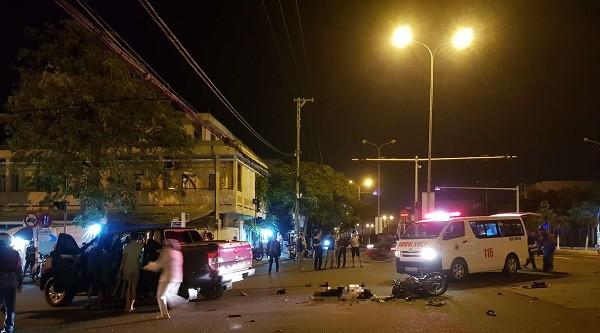 Va chạm giao thông tài xế xe máy tử vong tại chỗ