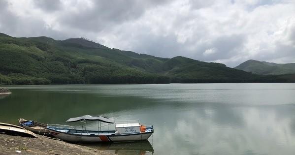 Hồ Núi Ngang, nơi xảy ra vụ tai nạn đuối nước khiến hai người tử vong