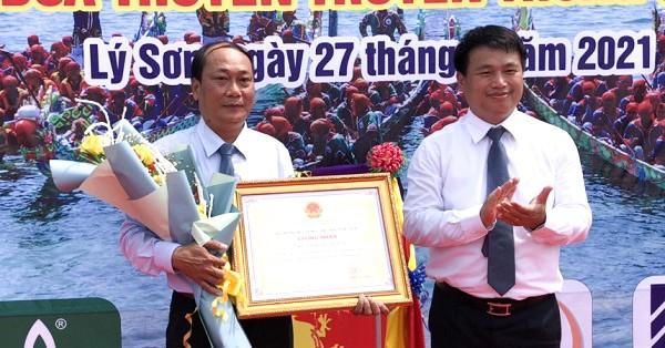 Công nhận Lễ hội đua thuyền tứ linh huyện đảo Lý Sơn là di sản văn hóa phi vật thể Quốc gia