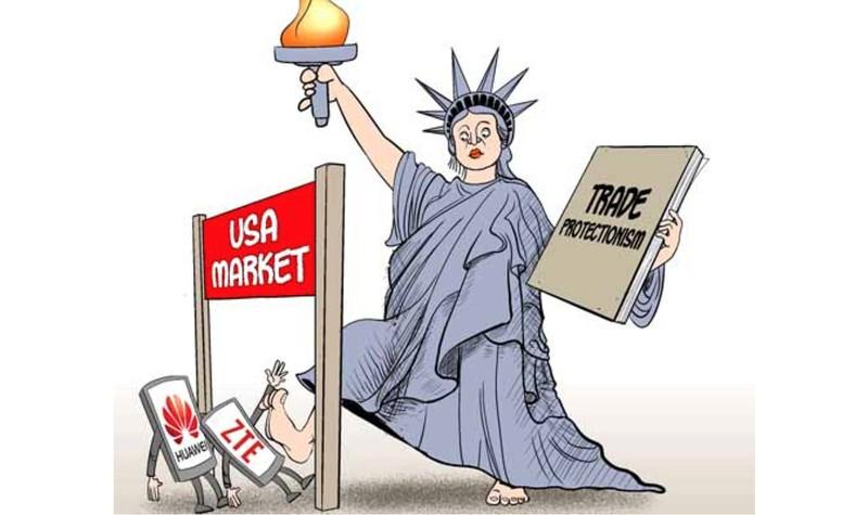Thị trường Mỹ bài trừ điện thoại Huawei trong bối cảnh đàm phán thuơng mại và vụ bắt giữ bà Mạnh Văn Chu (Ảnh: china.org.cn)