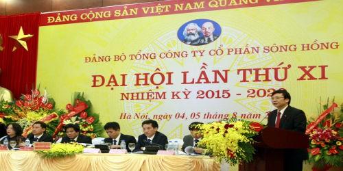 Ông Hồ Quang Lợi - Trưởng Ban Tuyên giáo Thành ủy Hà Nội đã ghi nhận và đánh giá cao những kết quả đạt được của Tổng công ty CP Sông Hồng