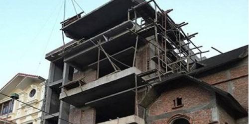 Đình chỉ công trình tại lô số 9  Dự án khu nhà ở và công trình công cộng thuộc phường Yên Hòa, Cầu Giấy