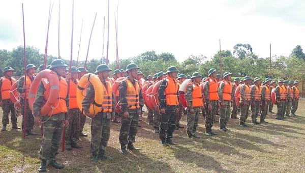 Trung đoàn 6 – Bộ CHQS tỉnh Thừa Thiên Huế báo động kiểm tra công tác phòng chống lụt bão