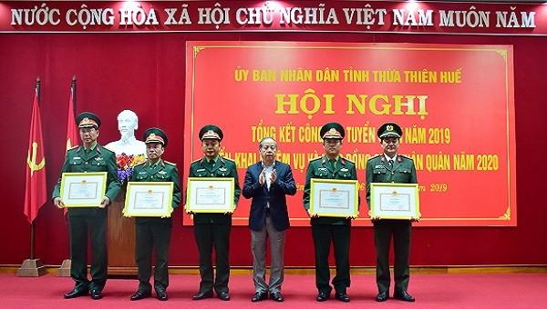 Thừa Thiên Huế giao 1.440 quân trong năm 2019