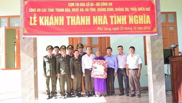 Công an khánh thành nhà tình nghĩa tại Thừa Thiên Huế