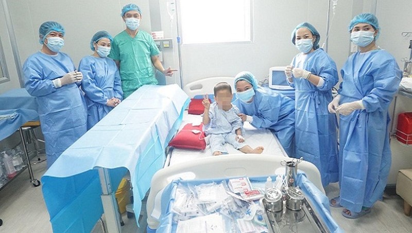 Sau 32 ngày thực hiện ca ghép, sức khỏe cháu H. đã hồi phục trở lại, các xét nghiệm máu của bệnh nhân đã trở về bình thường.