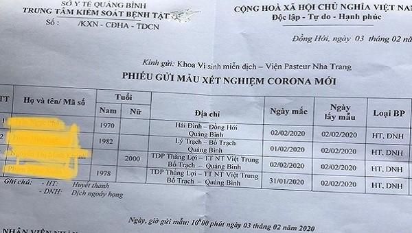 Quảng Bình cách ly 4 người nghi nhiễm nCoV, Quảng Trị từ mai cho học sinh ở nhà