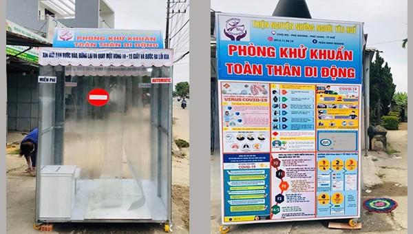 Buồng khử khuẩn toàn thân miễn phí cho người đi chợ ở Thừa Thiên - Huế