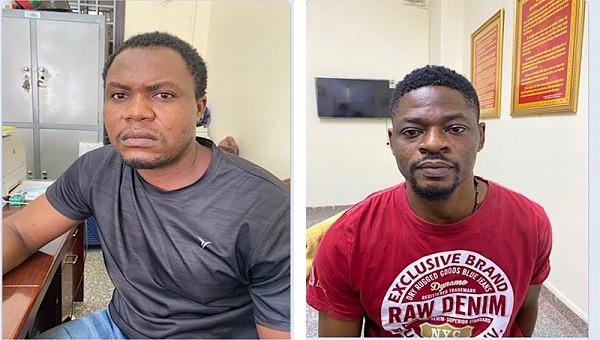 Đối tượng Ugochukuwu Okechukwu James và đối tượng Ogo Emeka  Donal.