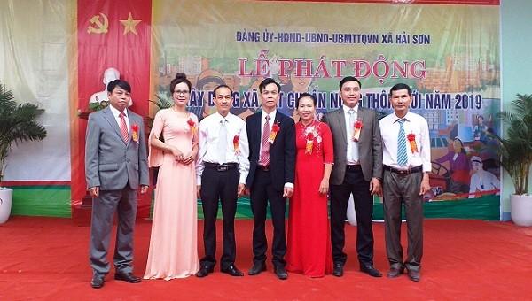 Xã Hải Sơn, tỉnh Quảng Trị làm Lễ phát động xây dựng  xã đạt chuẩn NTM trong năm 2019.