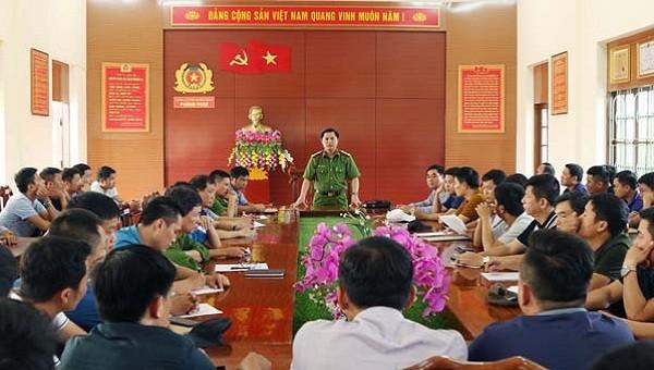 Đại tá Nguyễn Tiến Hoàng Anh, Phó Giám đốc Công an tỉnh Quảng Bình, Trưởng Ban Chuyên án chỉ đạo công tác phá án.