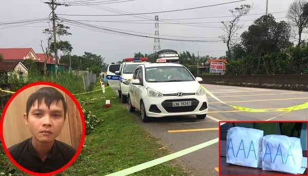 Các đối tượng khai nhận vận chuyển 2kg ma túy  bằng taxi từ Nghệ An vào Đà Nẵng để tiêu thụ cho Võ Tấn Ánh (ảnh nhỏ bên trái)