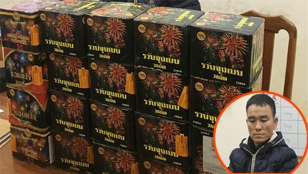 Bắt quả tang đối tượng vận chuyển hàng chục kg pháo hoa nổ trái phép