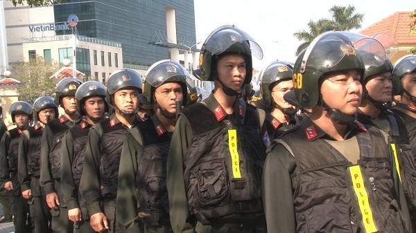 Tăng cường lực lượng Cảnh sát cơ động thuộc Bộ Tư lệnh cho Công an TP Huế