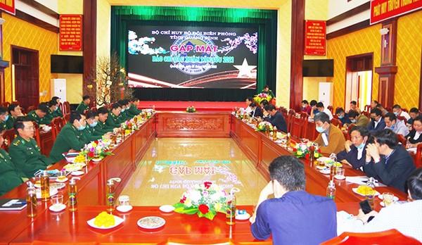 BĐBP Quảng Bình tổ chức gặp mặt báo chí đầu xuân Tân Sửu 2021.
