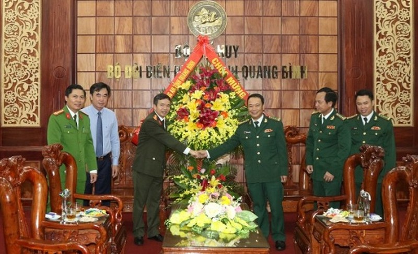 Ban Giám đốc Công an tỉnh Quảng Bình chúc mừng Ngày truyền thống Bộ đội Biên phòng